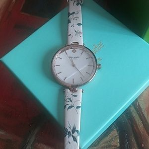Kate spade flowers with leaves women's watch
